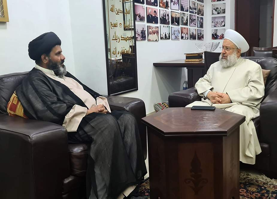 علامہ شفقت شیرازی کی مفتی اعظم لبنان الشیخ ماہر حمود سے ملاقات