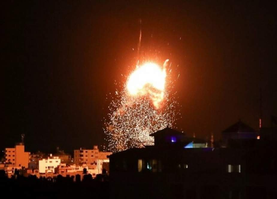 طائرات حربية صهيونية تقصف مواقع المقاومة جنوب قطاع غزة