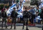 Israeli police and flag march.jpg