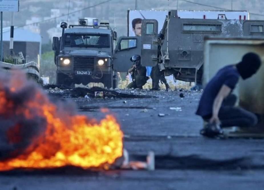6 إصابات بالرصاص الحي بمواجهات شديدة مع الاحتلال في جنين