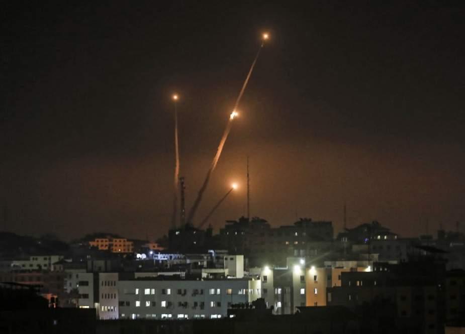 Rocket fired Into Israel from Gaza Strip.jpg