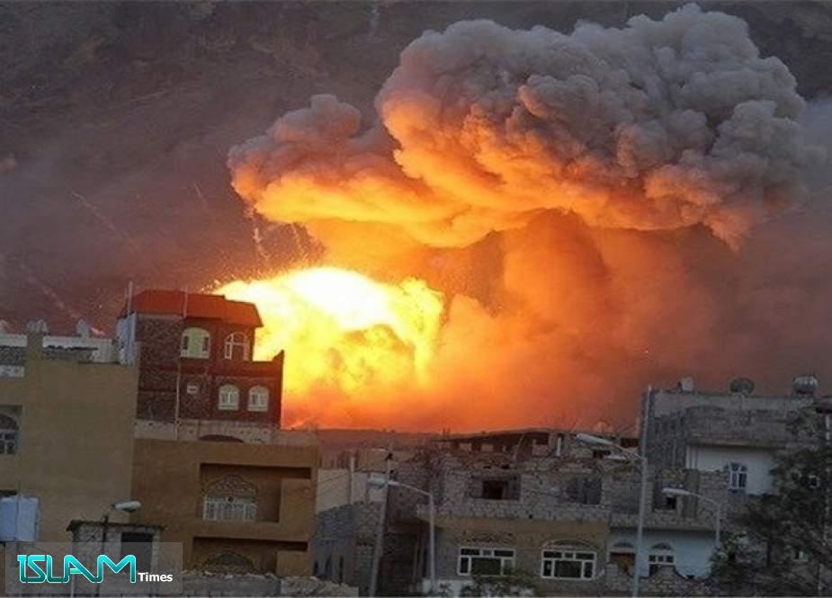 Saudi Coalition Fighter Jets Heavily Bombard Yemen