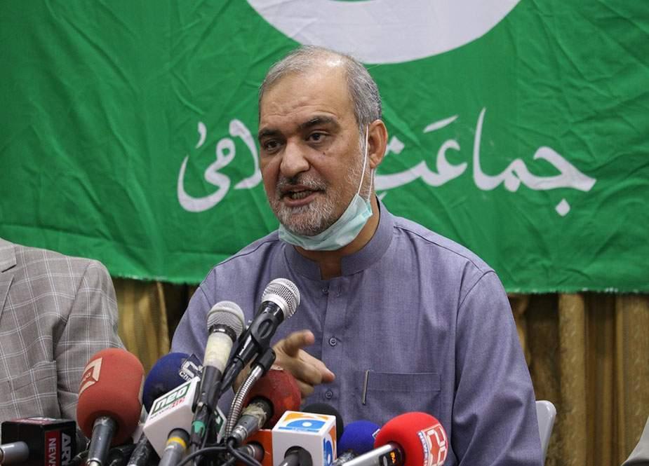 معاون خصوصی برائے توانائی کا بیان عوام کودھوکا اور کے الیکٹرک کی حمایت ہے، حافظ نعیم الرحمان