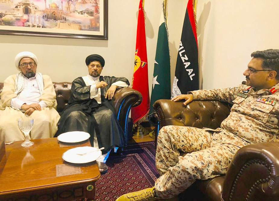 علامہ باقر زیدی کی سربراہی میں ایم ڈبلیو ایم وفد کی ڈی جی رینجرز سندھ سے ملاقات