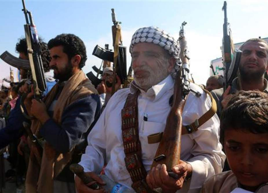 Yemeni Ansarullah fighters attend a rally in the coastal town of Hudaydah.jpg