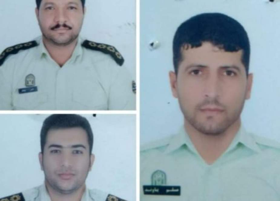 Tiga polisi yang meninggal dunia dalam peang melawan narkoba (Iran Front Page).