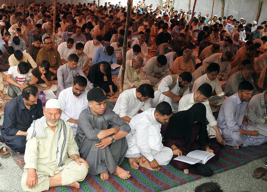 کوئٹہ، ہزارہ قبرستان بہشت زینب (س) میں دعائے عرفہ کا انعقاد