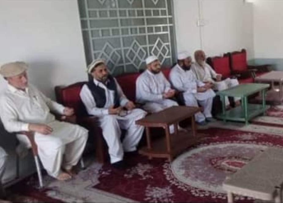 پاراچنار، علامہ خورشید جوادی کی سربراہی میں علماء کے وفد کی علامہ عابد الحسینی سے ملاقات