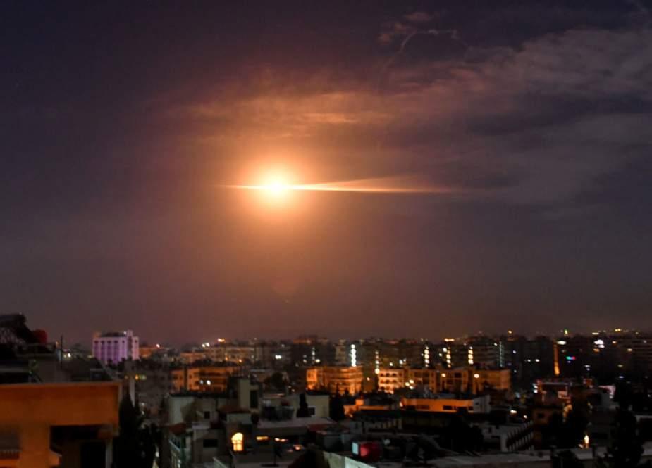 Syrian Air Defenses Repel Israeli Aggression near Damascus.jpg