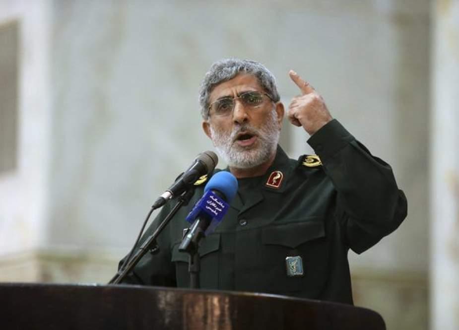 İranlı generalın Qüds qılıncı əməliyyatında Qəzzaya səfərləri və görüşləri