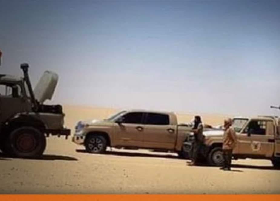 اللجنة العسكرية المشتركة لقوات حفتر تتجول في معسكرات الجنوب