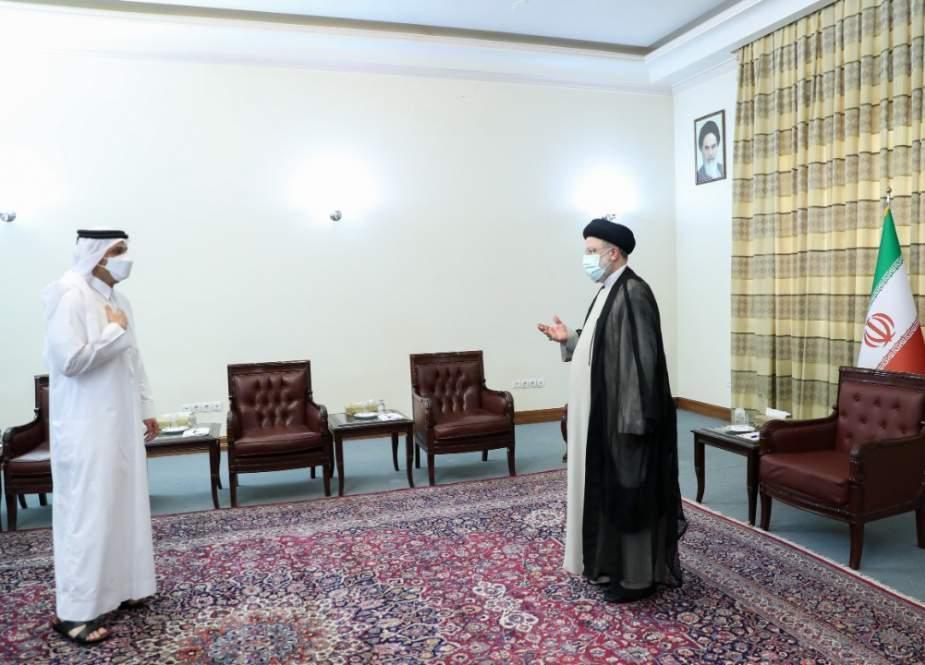 ابراهيم رئيسي لوزير الخارجية القطري: إيران أثبتت أنها صديق يعتمد عليه
