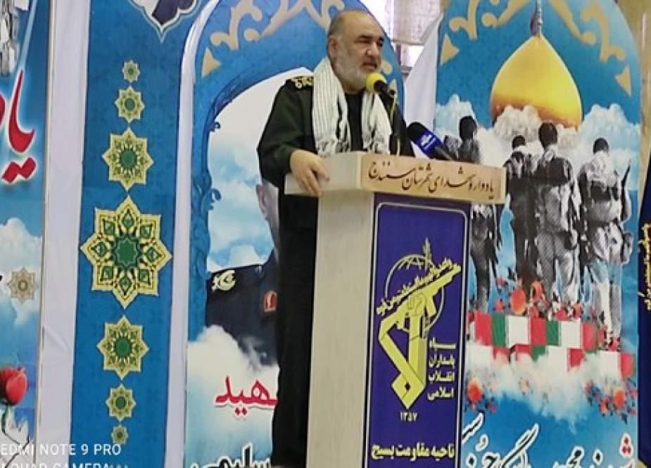قائد الحرس الثوري: اهالي كردستان لن يسمحوا للاعداء بان تطأ اقدامهم ارض ايران