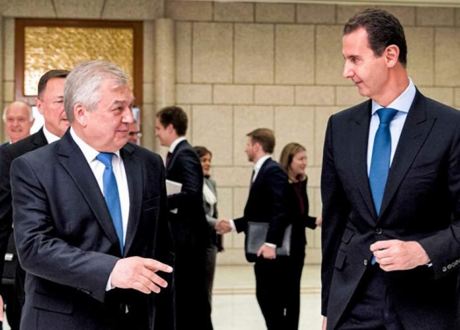 الأسد ولافرنتييف يناقشان في دمشق التعاون بشأن عودة اللاجئين