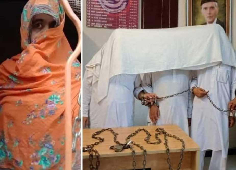 صوابی، سابق شوہر سے حق مانگنے پر بھائیوں نے بہن کو زنجیروں میں جکڑ دیا