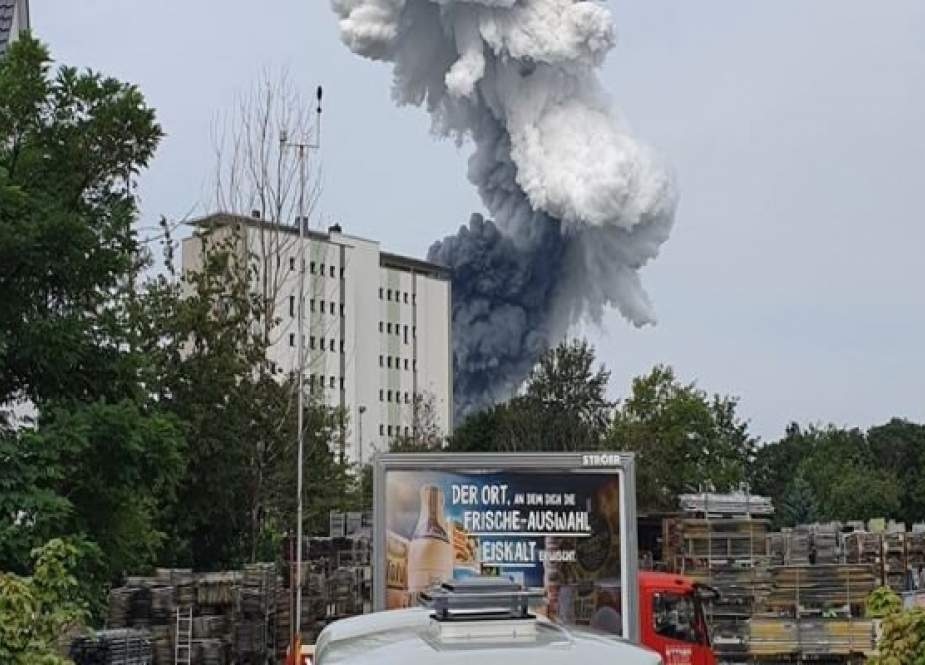 Situs Bahan Kimia Meledak Di Leverkusen, Jerman