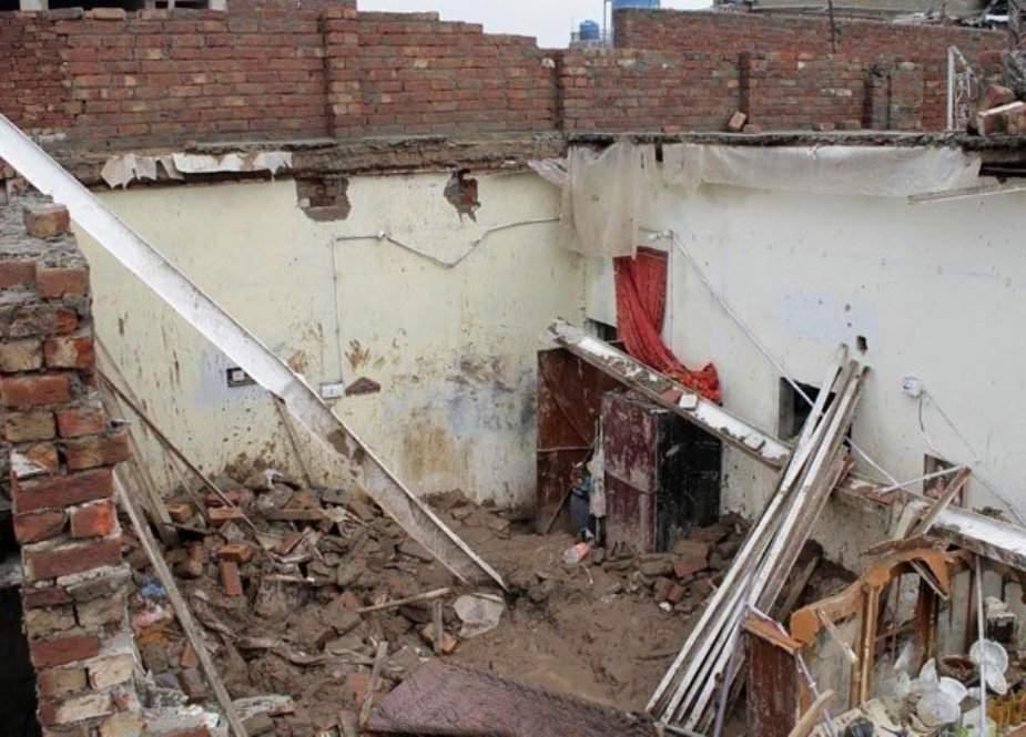 مردان، بارش کے باعث گھر منہدم، 2 بچے جاں بحق، ایک شدید زخمی
