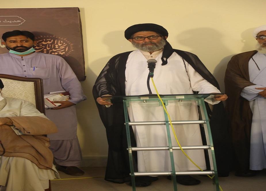 علامہ ساجد علی نقوی اجتماع سے خطاب کر رہے ہیں