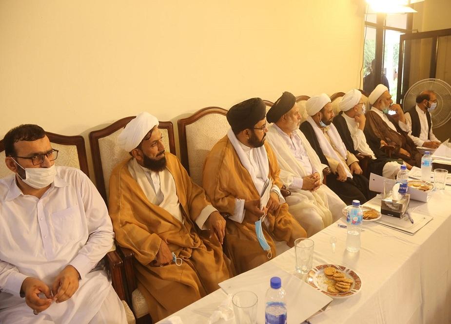 اسلام آباد، جامعۃ الکوثر میں شیعہ علماء استقبال محرم الحرام اجتماع میں شریک ہیں