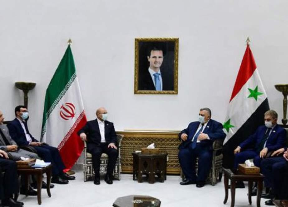 حموده صباغ يؤكد على قوة العلاقات السورية الإيرانية