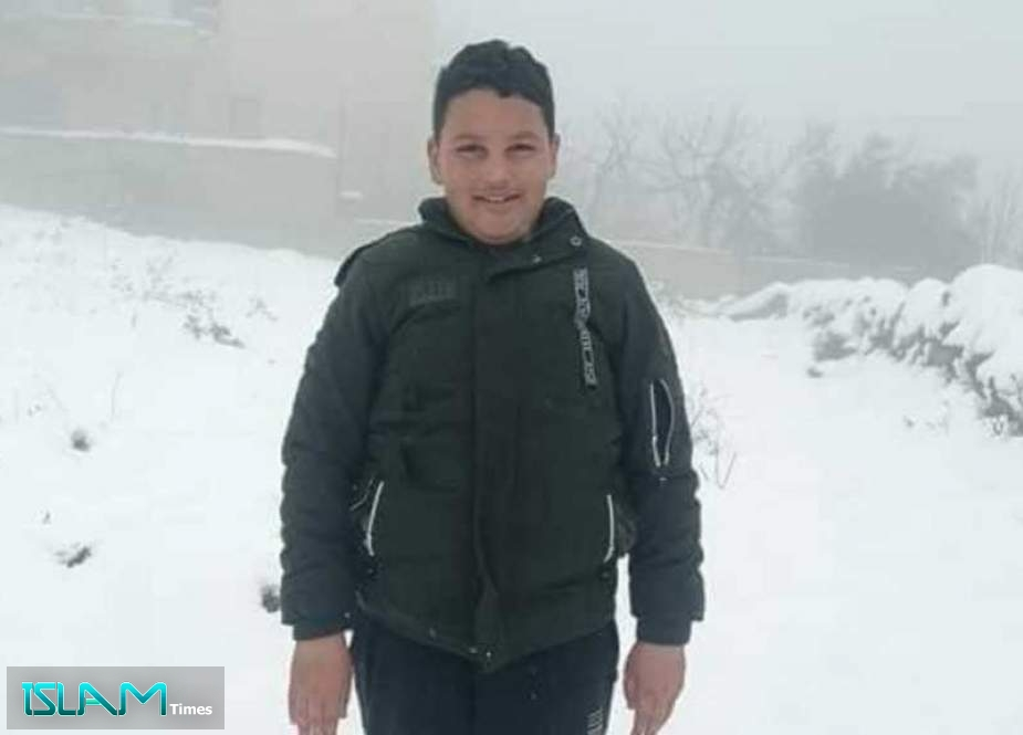 """New Palestinian Boy Martyred by """"Israel"""" in West Bank"""