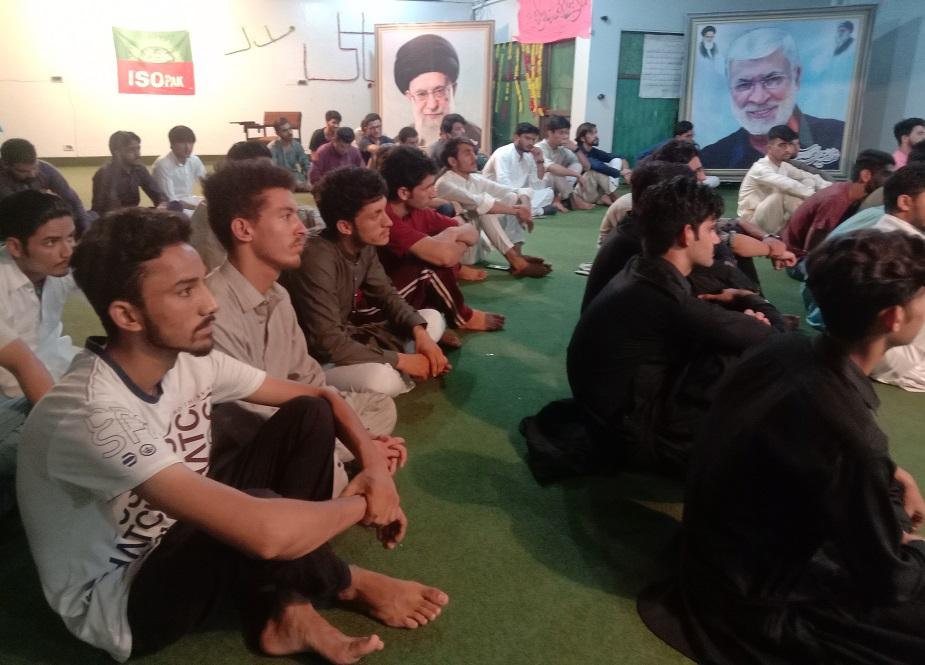 جشن غدیر میں آئی ایس او کے کارکنان شریک ہیں