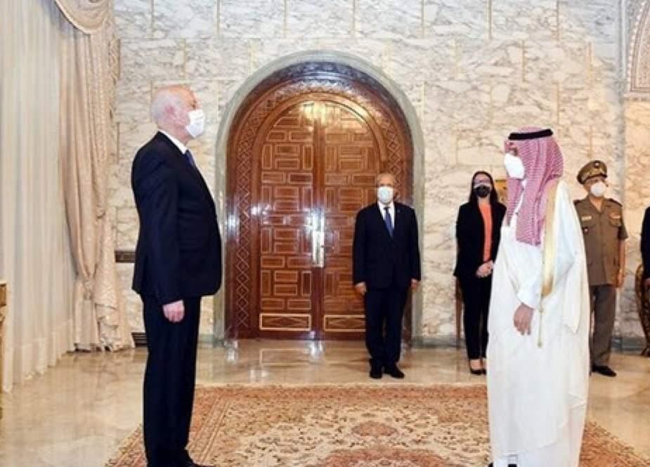 وزیر خارجه عربستان سعودی به دیدار رئیس جمهور تونس رفت
