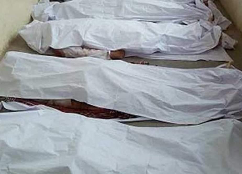 راجن پور میں مسافر وین میں آگ لگنے سے 4 مسافر جھلس کر جاں بحق