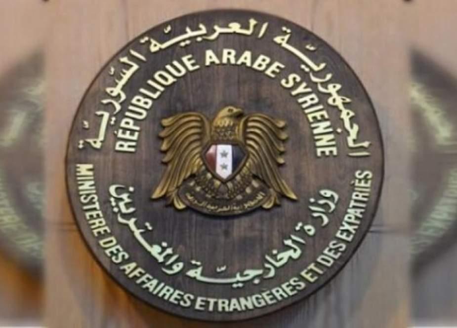 سوريا ترد على بيان فرنسي حول الوضع في البلاد