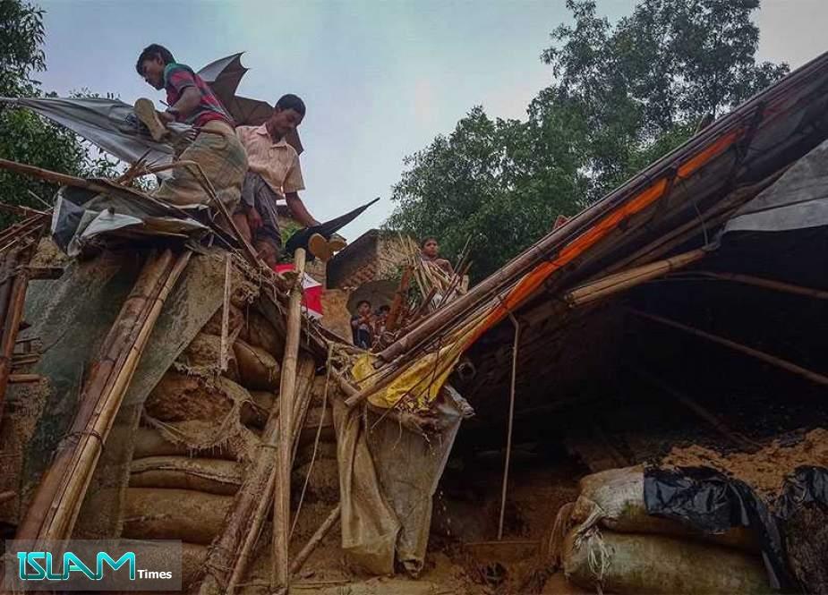 Bangladesh Floods Displace Thousands of Rohingya Refugees