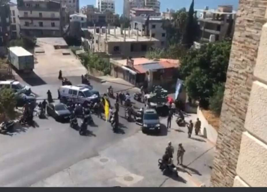 Tensions in Khlade after funeral procession for Hezbollah member was ambushed by Ghoson Arab clan.jpg