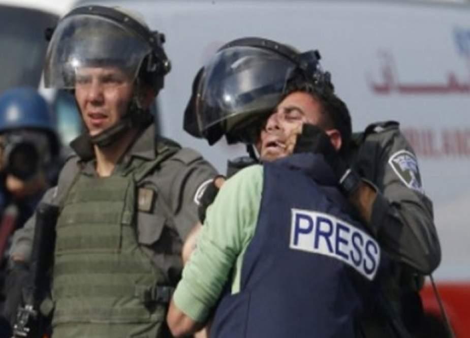 منظمة حقوقية توثق 61 انتهاكا ''إسرائيليا'' بحق صحفيين في فلسطين