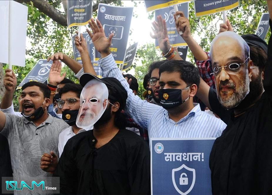 Hindistanda İsrailin casusluq qalmaqalı ilə bağlı etirazlar başladı