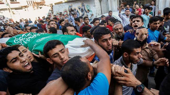 Palestinian mourners funeral in Gaza City.jpg