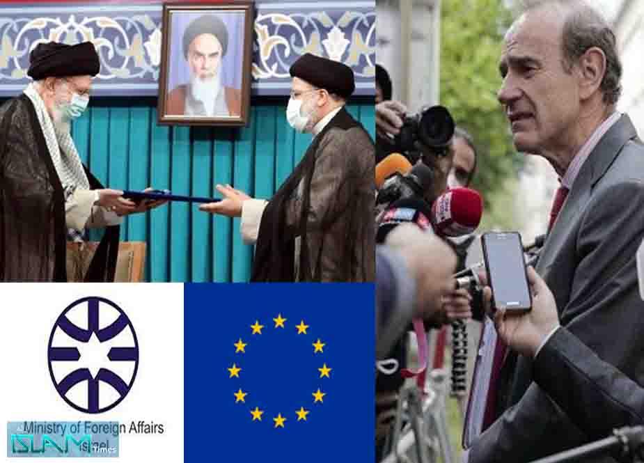 نومنتخب ایرانی صدر کی تقریب حلف برداری میں شرکت کے یورپی فیصلے پر غاصب صیہونی رژیم سیخ پا