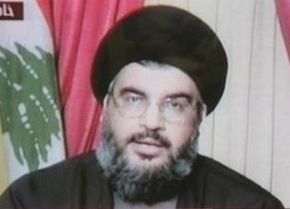Hezbollah S.G. Sayyed Hasan Nasrallah in a televised address during 2006 July War.jpg