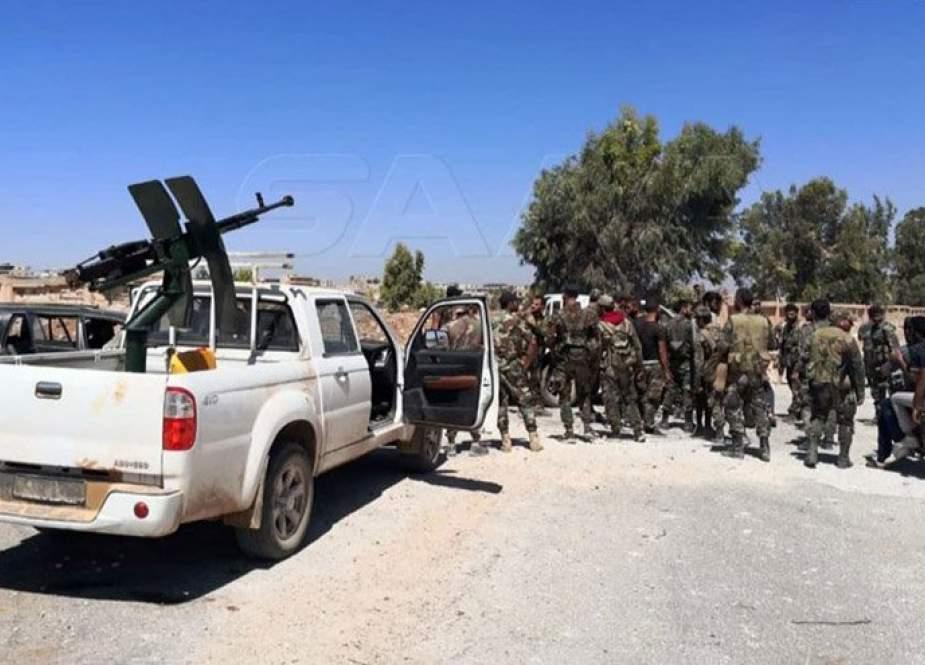 الجيش السوري يدخل درعا البلد ويبدأ بتثبيت نقاط تفتيش