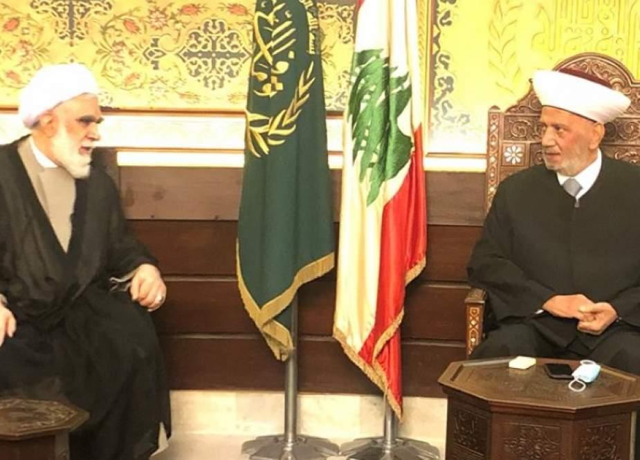 مفتي الجمهورية اللبنانية يستقبل وفدا ايرانيا