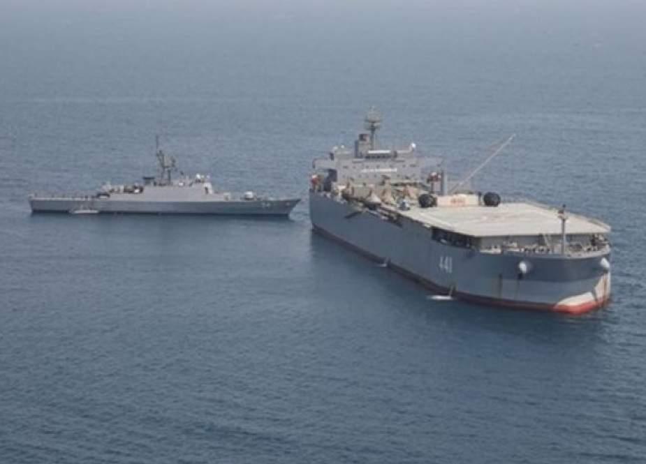 عودة المجموعة الـ 75 للقوة البحرية الإيرانية من رحلتها