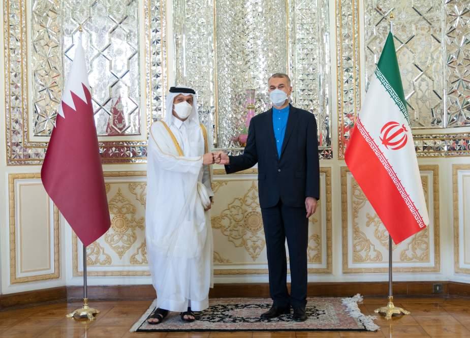 وزير خارجية قطر من طهران: نؤمن بضرورة تضافر الجهود تجاه أفغانستان