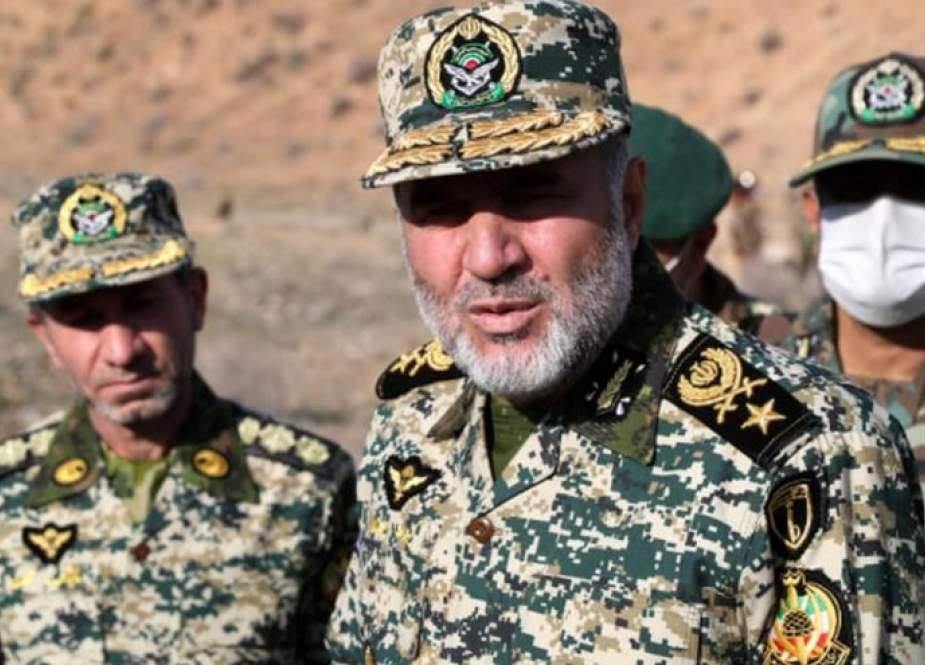 العميد حيدري: حدود ايران الشرقية الأكثر امنا حاليا