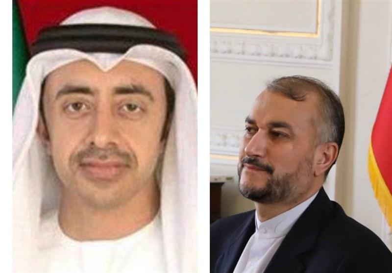 Iranian FM, UAE Counterpart Discuss Bilateral Ties, Regional Developments
