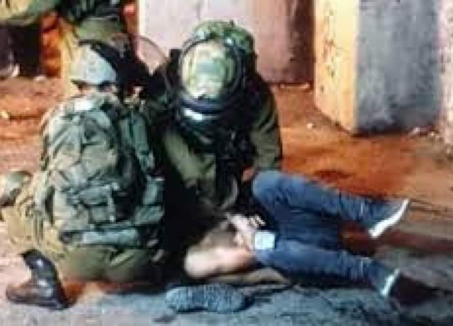 إصابة فلسطيني فی مواجهات مع الاحتلال بجنين