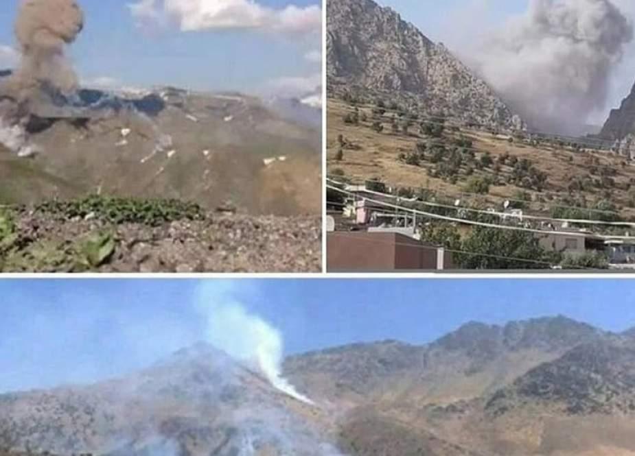 IRGC Iran Menyerang Posisi Teroris Di Kurdistan Irak