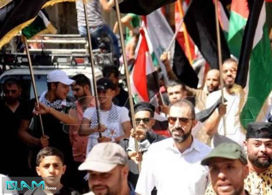 مسيرة بريف دمشق دعماً للأسرى في سجون الاحتلال الإسرائيلي