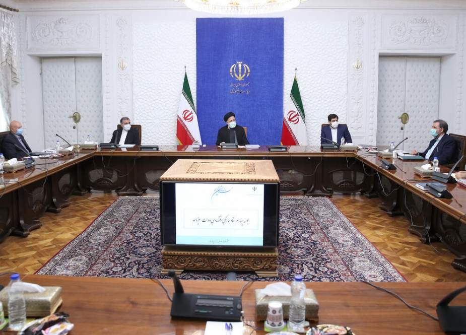 Ebrahim Raisi, President of Iran decried the policies of the US.jpg