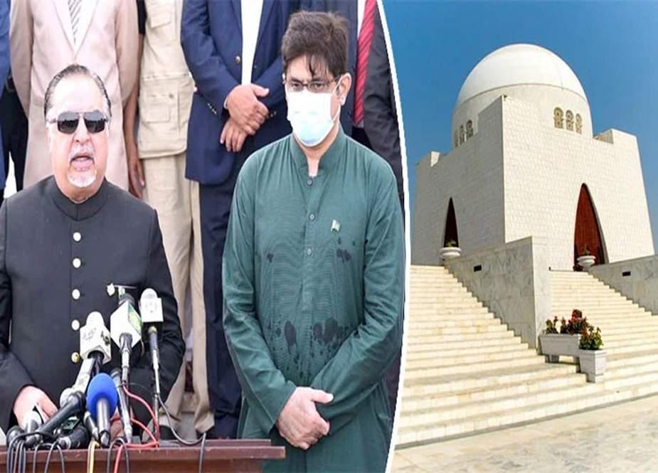 قائداعظم محمد علی جناح کا یومِ وفات، گورنر اور  وزیرِ اعلیٰ سندھ کی مزار پر حاضری
