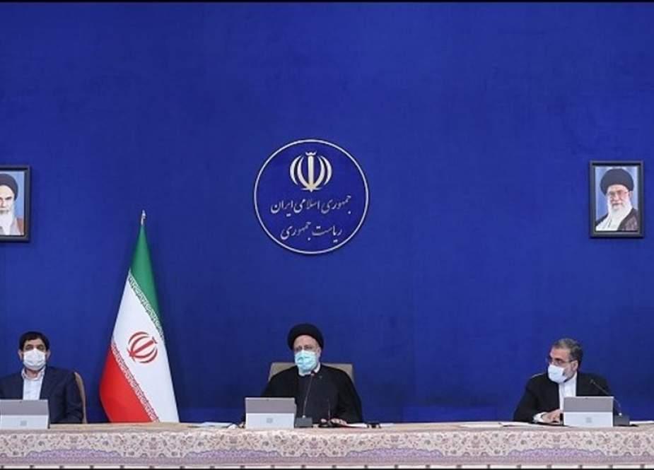 President Ebrahim Raisi addressing the Iranian Cabinet.jpg