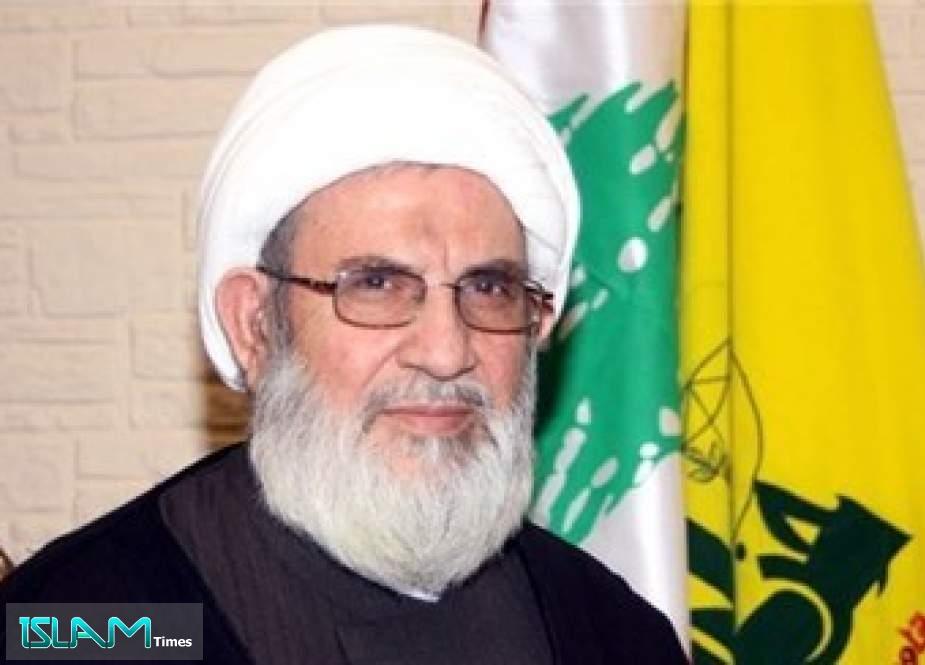 Hezbollah Will Break US Siege on Lebanon: Sheikh Yazbek