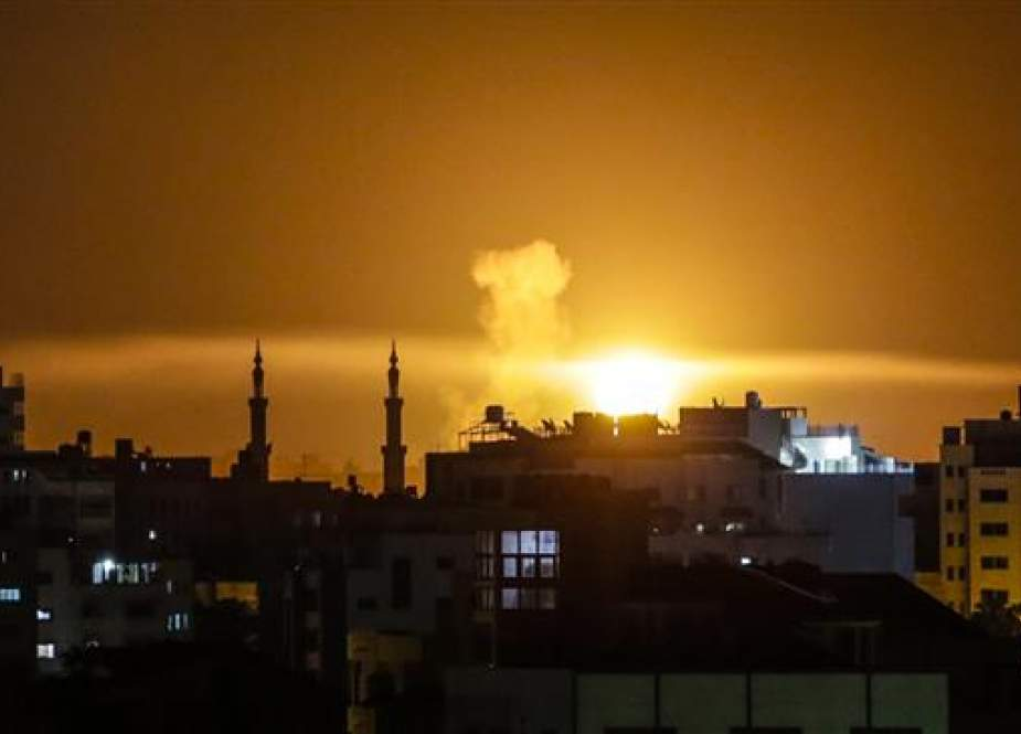 Gaza City after an airstrike by Israeli forces -